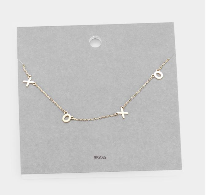 XOXO Necklace - Gold