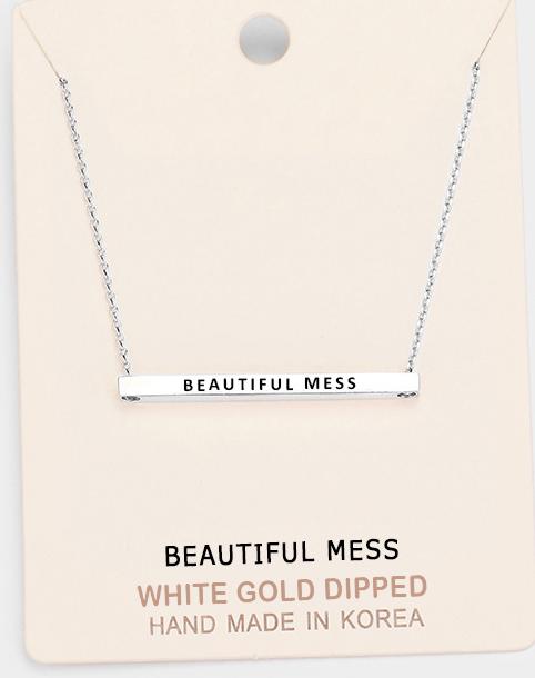 Beautiful Mess Bar Necklace