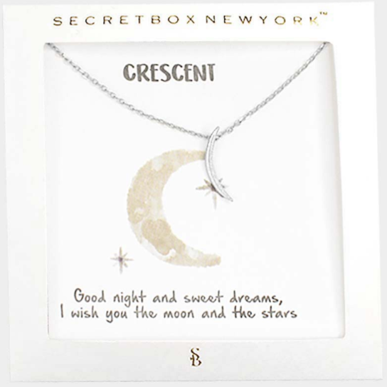 Crescent Moon Message Necklace