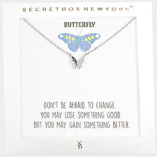 Butterfly Message Necklace