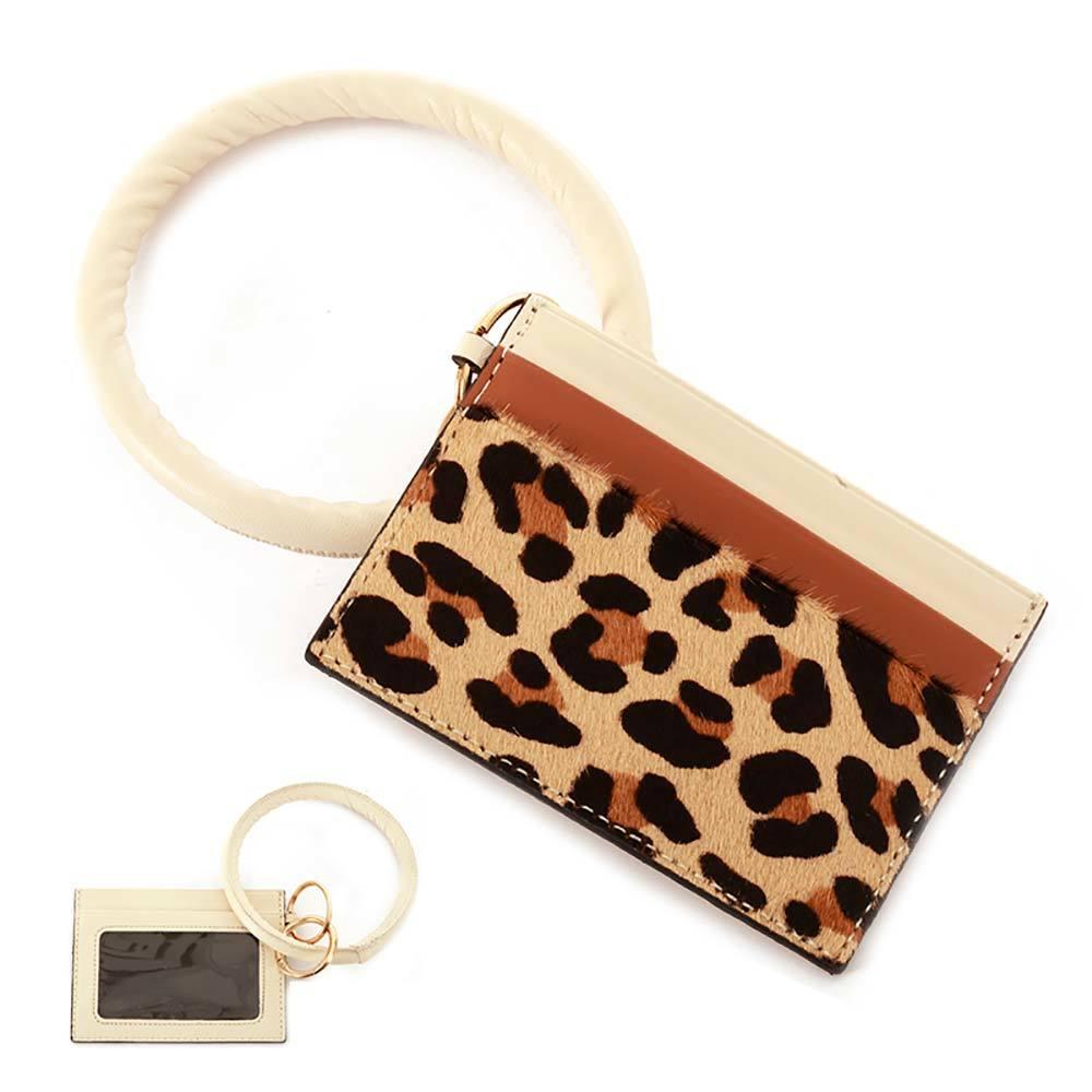 Leopard Wristlet | ID Window