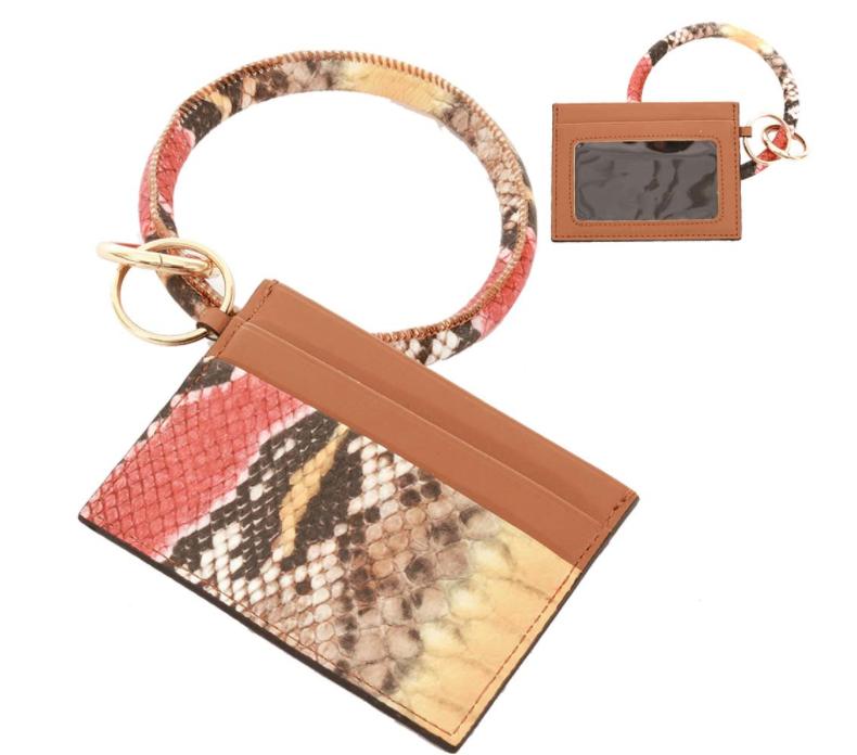 Snakeskin Wristlet | ID Window