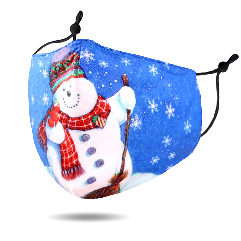 Children's Snowman Face Covering