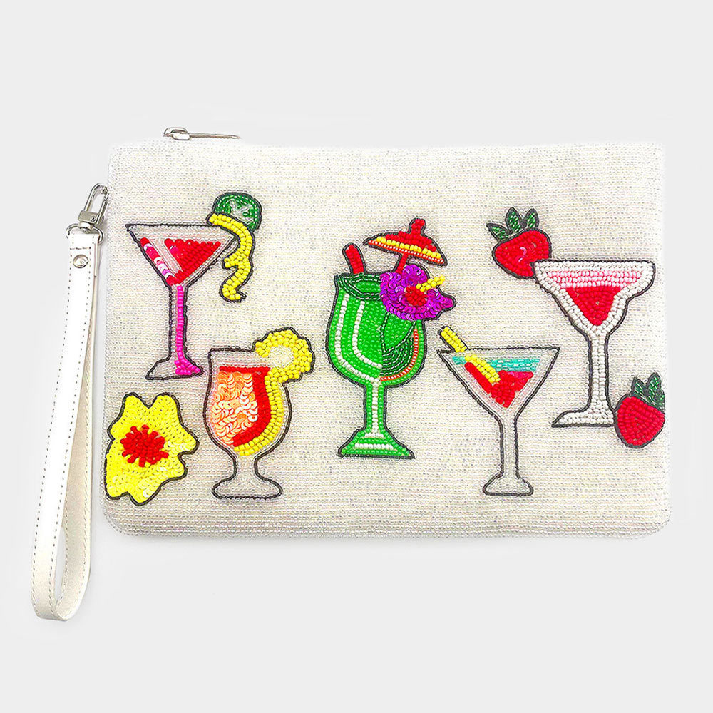 Seed Bead Cocktail Clutch